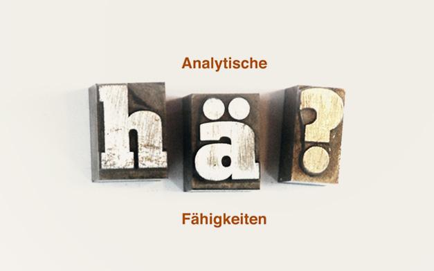 Analytische Fähigkeiten